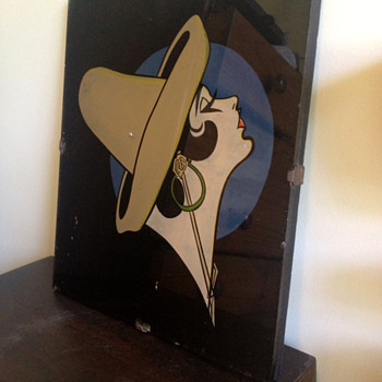 Reverse Glass Painting of Woman