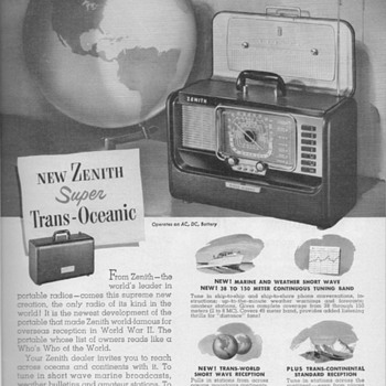 1951 - Zenith Shortwave Radio Advertisement