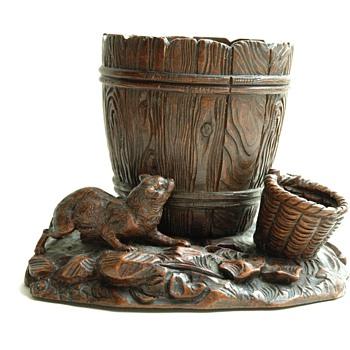 antique german 19th. Black Forest tobacco box - Tobacciana
