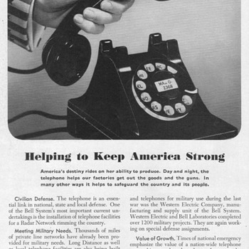 1951 - Bell Telephone Advertisement - Advertising
