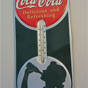 Coca Cola Silhouette Girl Thermometer