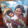Beautiful Native Painting Of Mother & Child