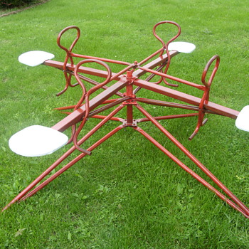1956 push and pull kids merry-go-round - Outdoor Sports