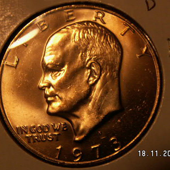 1973 D One Dollar Eisenhower - US Coins