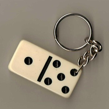 Domino Keyring Fob - Political - Advertising