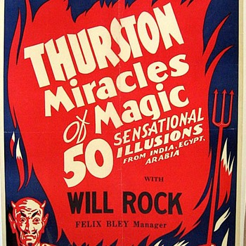 Original 1940 Thurston &quot;Miracles of Magic&quot; Poster