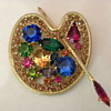 Weiss Artist&#039;s palette brooch