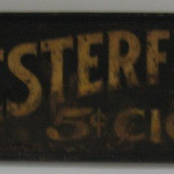 Chesterfield $.05 Cigar Sign