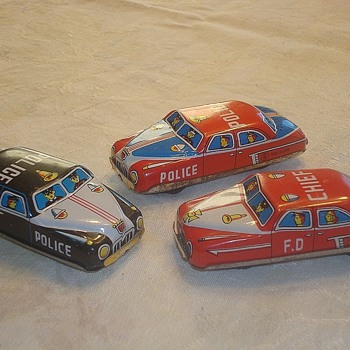 Nomura Tin Friction Cars
