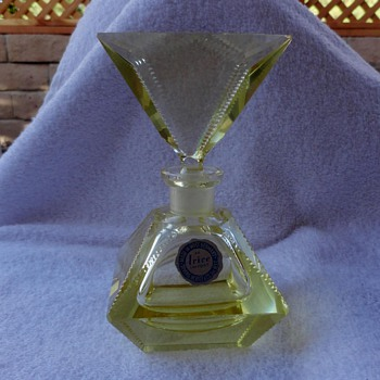 Irving Rice perfume bottle