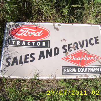 ford tractor dealer sign