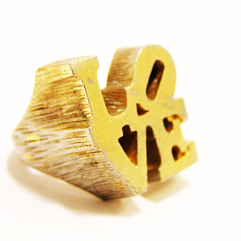 Vintage Robert Indiana L.O.V.E. Ring - Costume Jewelry