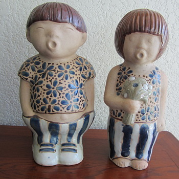 Asian Boy and Girl Figurines  - Figurines