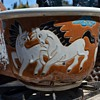 "Asian Horsies Planter - 10"" Flower Pot"