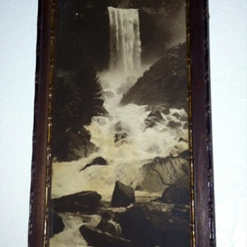 Vintage / Vernal Falls / original frame & glass 1900's
