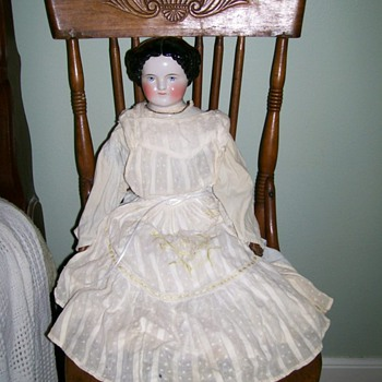 1860's Flat Top China Doll like one in Scott's Photo Posted  - Dolls