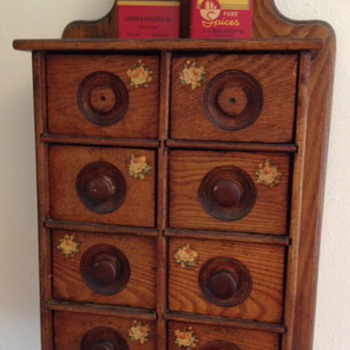 Antique spice drawers
