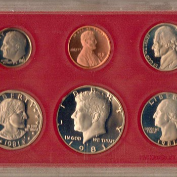 1981 S - U.S. Proof Coins Set