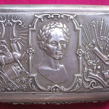 SILVER TOBACCO BOX, PRAGUE, 1837 – SYMBOLS? - Sterling Silver