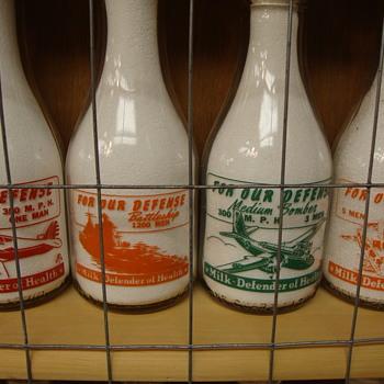 **FOR OUR DEFENSE**War Slogan Series Milk Bottles