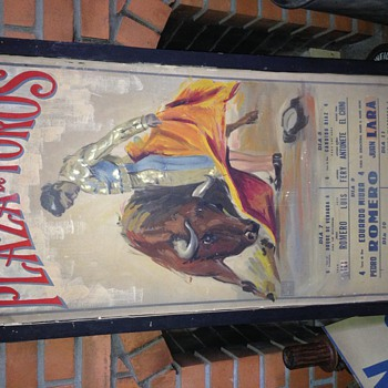 Vintage Bull Fighting poster - Posters and Prints