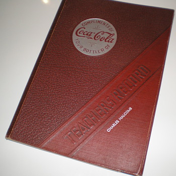 1939 Coca-Cola Teachers Record Book