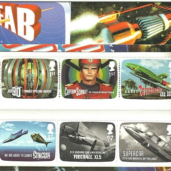 GERRY ANDERSON STAMPS (THUNDERBIRDS) - Stamps