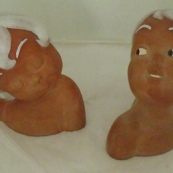Pottery Boy & Girl Busts by Lee -Any Information on Who Lee is? - Art Pottery