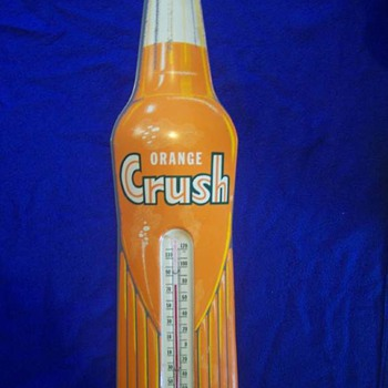 Orange Crush Soda Thermometer