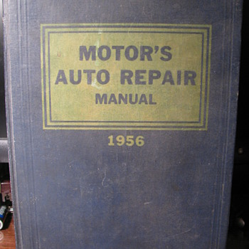 1956 Motor's Auto Repair Manual - Books