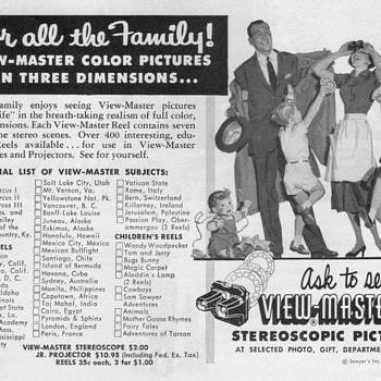 1952 - View Master Advertisements