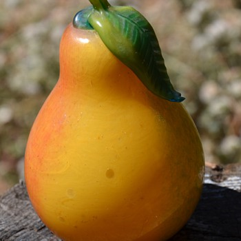 Handblown Glass Pear - Glassware