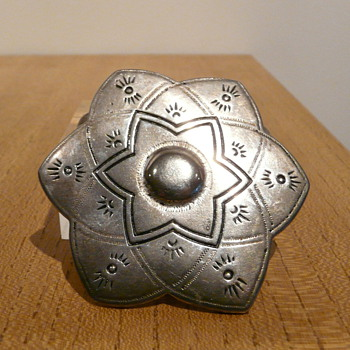 SIX POINTED STAR SILVER BELT BUCKLE
