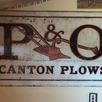 P&O Canton Plows - Signs