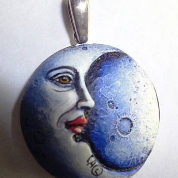 Special Silver Moon pendant signed CA©  - Fine Jewelry