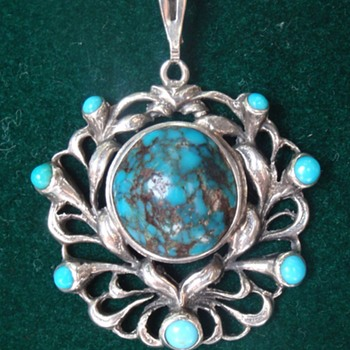 Arts & Crafts Liberty turquoise pendant