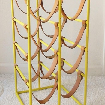 YELLOW? Paul McCobb / Arthur Umanoff 8-Bottle Wine Rack - Mid-Century Modern