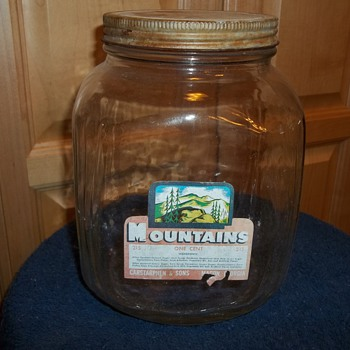 Mountains Penny Candy Jar  from Castarphen & Sons Of Macon  Ga. - Glassware