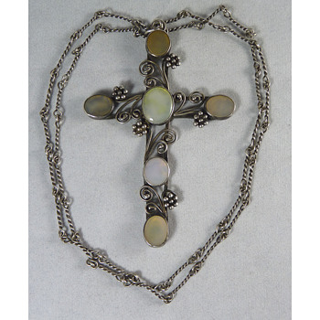 Large Arts & Crafts Cross, probably by Bernard Instone - Fine Jewelry