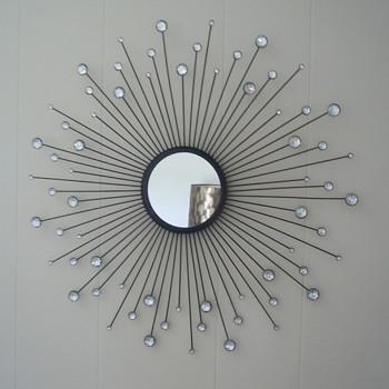 Mid Century Starburst Wall Mirror.