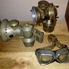 Antique bicycle lamp lights