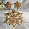 Crown Trifari Snowflake Brooch & Earrings