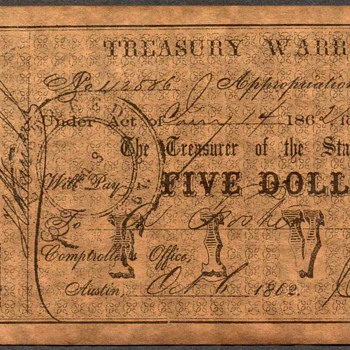 Confederate Currency - Novelty Note (Texas) - US Paper Money