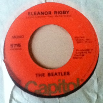 "The Beatles - ""Eleanor Rigby"" & ""Yellow Submarine"" 45 Record"