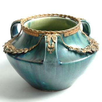 art nouveau vase by EUGENE BAUDIN