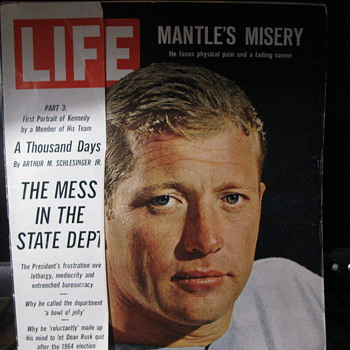 Life Magazine 1964  Micky Mantile - Paper