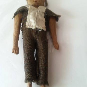 Early Folk Art Carving Doll - Folk Art