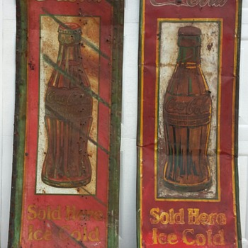 Two 1920's Coca Cola Signs