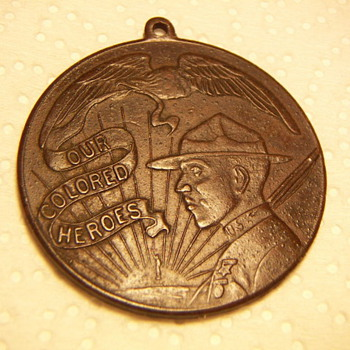 WWI  Medal &quot;Our Colored Heros&quot;