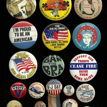 A little mixture of American Pinback Buttons